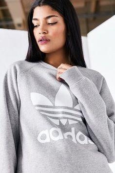 adidas Trefoil Pullover Sweatshirt at ShopStyle