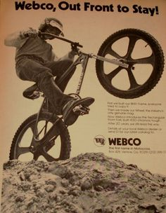 Webco Ad: 1977 - 1978 BMX Action!