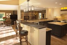 Breakfast Counter - contemporary - kitchen - milwaukee - Wade Design & Construction Inc