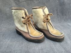 70's Mukluks Fuzzy Winter Boots - Women's Size 38 (US 8) by ElkHugsVintage on Etsy