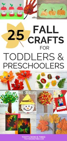 25 Fall Crafts for Toddlers & Preschoolers