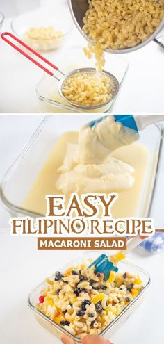 Macaroni Salad is one of Filipinos' favorite Christmas desserts. It's colorful, delicious, creamy and easy to make! Give this a try! :)