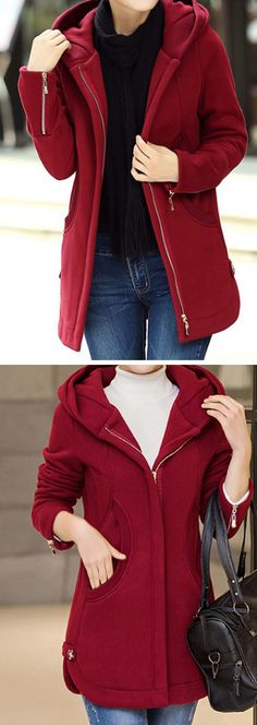 Outwear For Women Outfits For Teens, Trendy Outfits, Cool Outfits, Fashion Outfits, Womens Fashion, Fashion Trends, Ladies Hooded Coats, Coats For Women, Modelos Plus Size