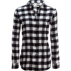 Woolrich Buffalo Check Boyfriend Shirt (715 MXN) ❤ liked on Polyvore featuring tops, shirts, night out tops, flannel button-down shirts, woolrich shirts, buffalo plaid shirt and holiday tops