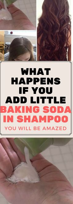 WHAT HAPPENS IF YOU ADD LITTLE BAKING SODA IN SHAMPOO, YOU WILL BE AMAZED..!