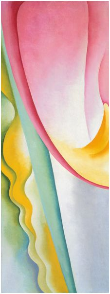 Georgia O'Keeffe, Pink Tulip, 1925. Oil on canvas, 31 3/4 × 12 in. (80.6 × 30.5 cm). Collection of Emily Fisher Landau. © Georgia O'Keeffe Museum/Artist Rights Society (ARS), New York, Georgia