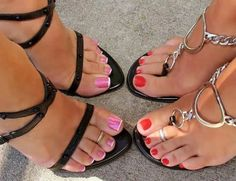 Delicious female feet — Which one u like the most? I go left Sexy Legs And Heels, Hot High Heels, High Heels Stilettos, Stiletto Heels, Beautiful High Heels, Beautiful Toes, Cute Toes, Pretty Toes, Sexy Sandals