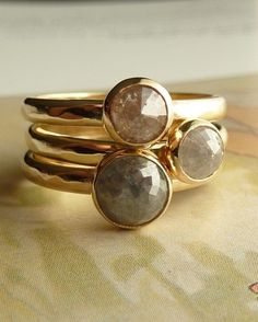 love the stackable idea and the roughness of these