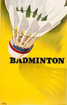 BORK, Erik. Badminton. c.1940 #sports