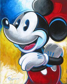 """Pie Eye, Oh My"" by Tim Rogerson - Original Oil on Canvas, 20x16.  #Disney #MickeyMouse #DisneyFineArt #TimRogerson"