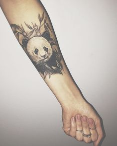 Panda Bear Seleeve Tattoo