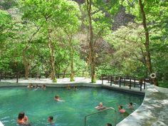 Rainforest spa! Have a mudbath and then soak in a volcanic thermal pool in Rincon de la Vieja Park in Costa Rica