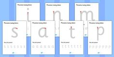Phase 2-3 Phoneme Tracing Letters - tracing letters, phonemes, handwriting…