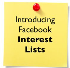 Great video on FB Interests Lists by Amy Porterfield, thinking I will create some lists and link here!