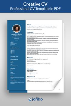 Go with a creative resume template if you work within the fields of marketing, graphic design or similar. Your resume should ooze creativity and imagination #cv #cvtemplate #cvtemplates Creative Cv Template, Professional Cv, Business And Economics, Language, Student, Marketing, Education, Learning, Professional Resume