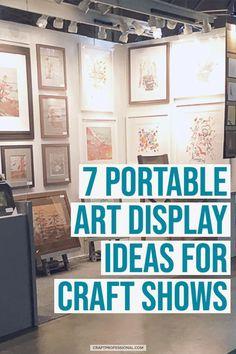 7 Art Booth Display Photos - 7 portable art display ideas for craft shows. Craft Show Booths, Craft Show Displays, Craft Show Ideas, Photo Displays, Display Photos, Display Ideas, Booth Ideas, Display Design, Booth Design