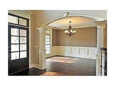 Dining room, front door, trim