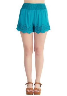 Give It a Triumph Shorts in Turquoise | Mod Retro Vintage Shorts | ModCloth.com