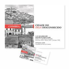 """Coimbra, Cidade do Deus Desconhecido"" (""Coimbra, City of The Unknown God"") | ADC | [Poster] + [Invitation]"