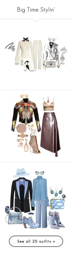 """""""Big Time Stylin'"""" by blujay1126 ❤ liked on Polyvore featuring Elizabeth and James, Chloé, Mads Nørgaard, Pollini, Miu Miu, Roberto Cavalli, Rolex, Allurez, Lulu Frost and Alexis Bittar"""