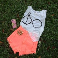 Infinity + clothes summer outfits summer clothes for summer for summer Cute Fashion, Teen Fashion, Fashion Outfits, Womens Fashion, Style Fashion, Cute Summer Outfits, Spring Outfits, Cool Outfits, Summer Clothes