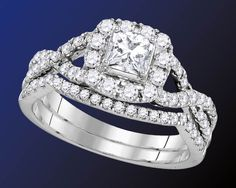 Our customers are raving about our popular Enchanting Bliss Bridal Collection. This 1-carat total weight bridal set, for example, features a 1/3-carat certified princess-cut center diamond surrounded by a halo of round diamonds set in 14-karat white gold. Get all the details here... http://www.jewelrysupercenter.com/index.php?file=productlist&icatid=778&ichangeid=1 #enchantingblissbygnd #engagement