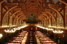 """Annenberg Hall at Harvard. Harvard is the oldest institution of higher learning in the U.S. established in 1636.  One of the """"big 3"""" along with Princeton & Yale."""