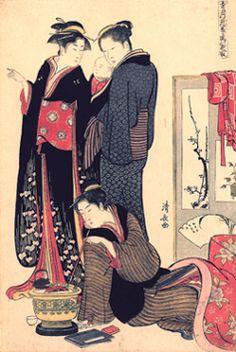 浮世絵のきもの[3]「ボストン美術館 浮世絵名品展」(Ⅱ)辰巳芸者とは? : 読書日記と着物あれこれ