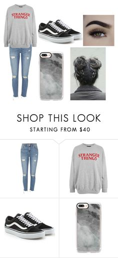 """""""grey."""" by stowies74 on Polyvore featuring River Island, Vans, Casetify, GET LOST and simple"""