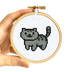 Who else has been playing Neko Atsume like there's no tomorrow? Now that you've collected a bunch of cats in the game, how about collecting them in cross-stitch? I've seen some pa…