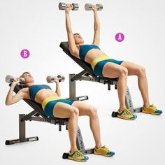 health magazine You Need These Arm Exercises In Your Life If You Want To Be Crazy-Toned - Dumbbell - Ideas of Dumbbell - 6 Trainers Favorite Exercises for Stronger Sculpted Arms Sculpted Arms, Incline Bench, Womens Health Magazine, Weight Benches, Strength Training Workouts, Fitness Workouts, Chest Workouts, Body Fitness, Trainer