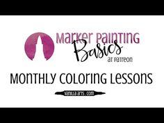 """Speed Color- Copic & Prismacolor """"Sakura Blossom"""" VanillaArts.com - YouTube"""