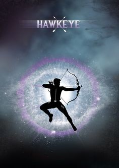 Hawkeye Silhouette Poster Design by Jason W Stanley via www.CreativeJUUS.com