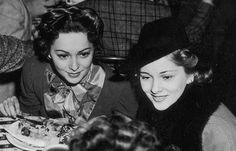 Olivia De Havilland and Joan Fontaine c.1940