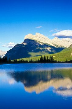 Mount Rundle and Vermillion Lake, Banff National Park, Alberta, Canada; photo by Jerry Mercier