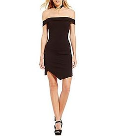 7e48ffa085c3 GB Off-The-Shoulder Envelope-Hem Bodycon Dress Junior Dresses