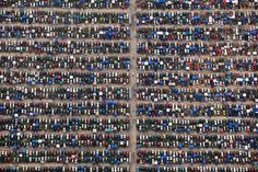 "This pilot took 10 photos from his plane. - Alex mclean, a licensed pilot and photographer, took these gorgeous photos ""just by sticking his camera out the window"". Parking Lot, Car Parking, Nascar, Surreal Photos, Photographs, Jolie Photo, Photo Series, Birds Eye View, Aerial Photography"