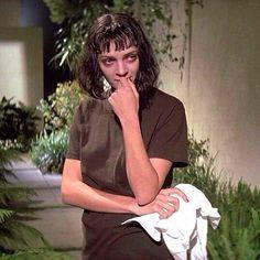 Uma Thurman as Mia Wallace, Pulp Fiction dir. Quentin Tarantino, Film Pulp Fiction, Mia Wallace, Roger Taylor, Uma Thurman, Film Inspiration, Film Aesthetic, Iconic Movies, Cultura Pop