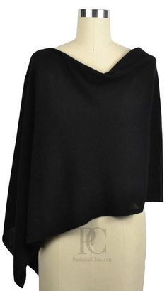 Cashmere Poncho Dress Topper. Wear it 4 ways. Comes in 50+ Color Choices