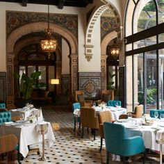 Hirsch Bedner Associates - Portfolio / Hotel Alfonso XIII / Seville.   (Just returned from here - so fabulous!)