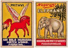 Indian matchbox labels