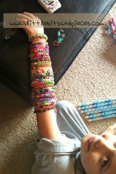 Rainbow Loom Patterns | Sharing Our Love for Rainbow Loom and A Giveaway - little bits and ...