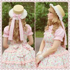 """sasetar: """" """"She looks like her husband owns a plantation"""" ♡ Dress & Hat decoration by Saija Sasetar /Frillycakes """" That's a cute outfit and all, but that's kind of a gross caption =/…………"""
