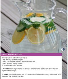 Beat a bloated belly with Sassy Water