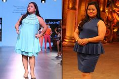 The name Bharti Singh needs no introduction. And it's not just her outstanding comic presence on-screen we love her for, but we admire her for her amazing fashion sense too. She's got an amazing style, which makes her a fashion idol of many plus- Bharti Singh, Gauze Clothing, Plus Size Brides, Indian Bridal Fashion, Fashion Idol, Bridal Style, Celebrity Style, Celebrity News, Stylish Outfits