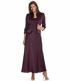 KM Collections Jacket Dress #Dillards  $200.  Very Pretty  Color: AUBERGINE