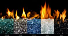 glass rock fireplace | COLOR GLASS & ROCKS FOR FIRE PLACE or FIRE-PIT