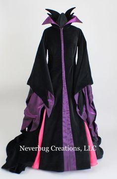 Items similar to Maleficent Costume (Animated Version) on Etsy Malificent Costume, Maleficent Costume Kids, Disney Villain Costumes, Movie Halloween Costumes, Toy Story Costumes, Halloween Dress, Halloween 2019, Maleficent Makeup, Halloween Boo