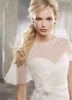 lol I just really like the model's hair in this picture, it caught my eye in a bridal magazine the other day.