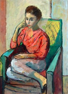 Woman Seated In Chair By ron Kalman